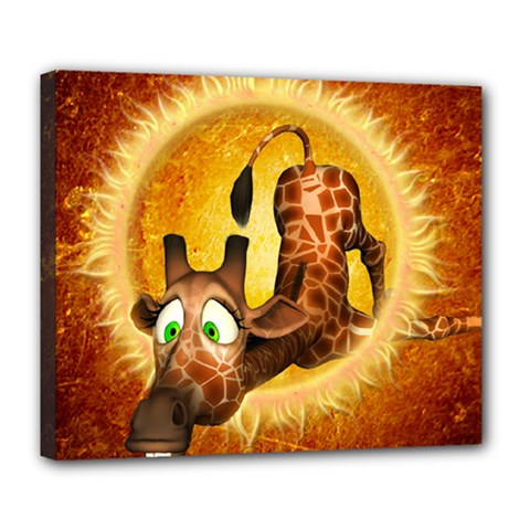 I m Waiting For You, Cute Giraffe Deluxe Canvas 24  x 20