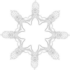 Modern Geometric Christmas Deer Illustration Straight Umbrellas