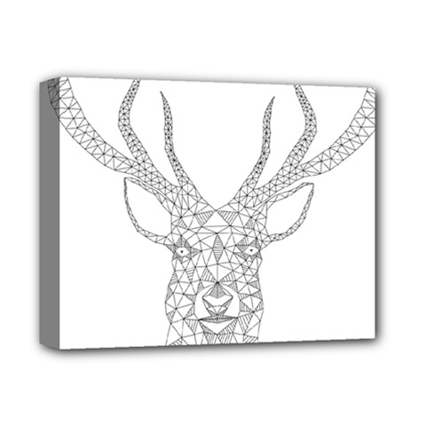Modern Geometric Christmas Deer Illustration Deluxe Canvas 14  x 11