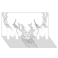 Modern Geometric Christmas Deer Illustration MOM 3D Greeting Card (8x4)