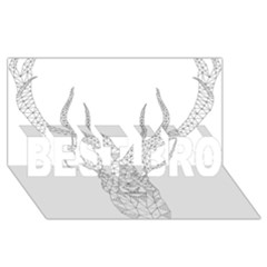 Modern Geometric Christmas Deer Illustration Best Bro 3d Greeting Card (8x4)