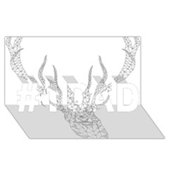 Modern Geometric Christmas Deer Illustration #1 Dad 3d Greeting Card (8x4)