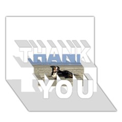 Bernese Mountain Dog Laying On Beach THANK YOU 3D Greeting Card (7x5)