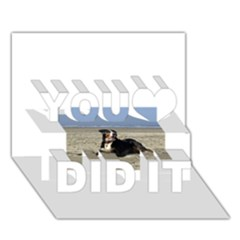 Bernese Mountain Dog Laying On Beach You Did It 3D Greeting Card (7x5)