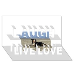 Bernese Mountain Dog Laying On Beach Laugh Live Love 3D Greeting Card (8x4)