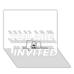 Peeping White Havanese YOU ARE INVITED 3D Greeting Card (7x5)