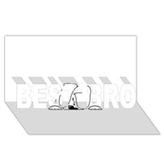Peeping White Havanese BEST BRO 3D Greeting Card (8x4)