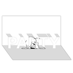 Peeping White Havanese PARTY 3D Greeting Card (8x4)