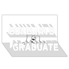 Peeping White Havanese Congrats Graduate 3D Greeting Card (8x4)