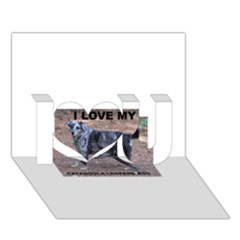 Catahoula Love With Picture I Love You 3D Greeting Card (7x5)