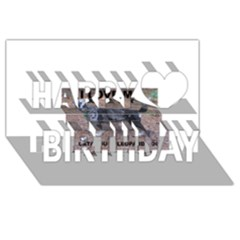 Catahoula Love With Picture Happy Birthday 3D Greeting Card (8x4)