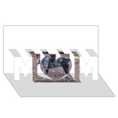 Catahoula Love With Picture MOM 3D Greeting Card (8x4)