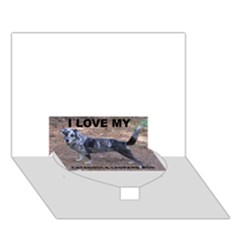 Catahoula Love With Picture Heart Bottom 3D Greeting Card (7x5)
