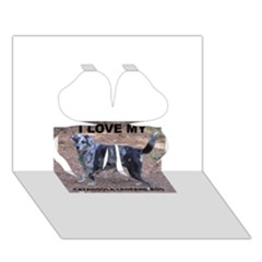 Catahoula Love With Picture Clover 3D Greeting Card (7x5)