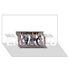 Catahoula Love With Picture ENGAGED 3D Greeting Card (8x4)