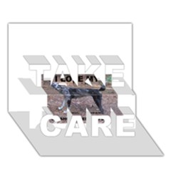 Catahoula Love With Picture TAKE CARE 3D Greeting Card (7x5)