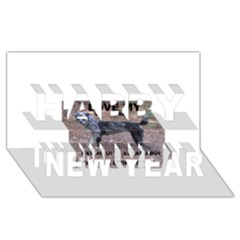 Catahoula Love With Picture Happy New Year 3D Greeting Card (8x4)