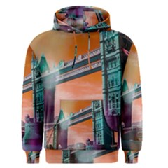 London Tower Bridge, Bokeh Orange Men s Pullover Hoodies