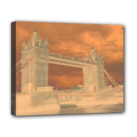 London Tower Bridge Special Effect Deluxe Canvas 20  x 16