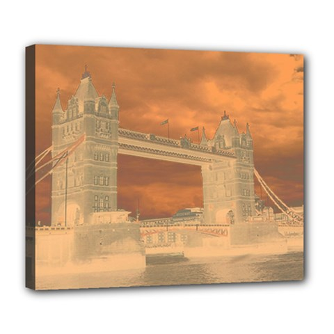 London Tower Bridge Special Effect Deluxe Canvas 24  x 20