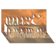 London Tower Bridge Special Effect Happy Birthday 3d Greeting Card (8x4)