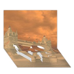 London Tower Bridge Special Effect LOVE Bottom 3D Greeting Card (7x5)