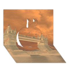 London Tower Bridge Special Effect Apple 3D Greeting Card (7x5)