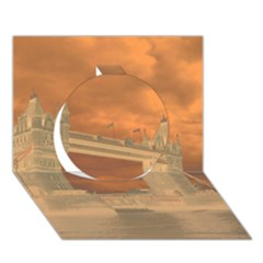 London Tower Bridge Special Effect Circle 3d Greeting Card (7x5)