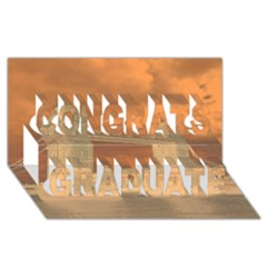 London Tower Bridge Special Effect Congrats Graduate 3d Greeting Card (8x4)
