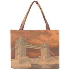 London Tower Bridge Special Effect Tiny Tote Bags