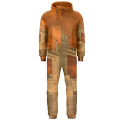 London Tower Bridge Special Effect Hooded Jumpsuit (Men)