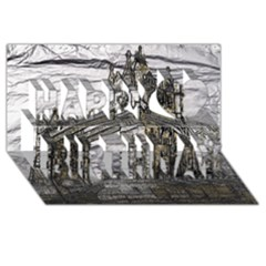 Metal Art London Tower Bridge Happy Birthday 3d Greeting Card (8x4)