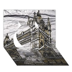 Metal Art London Tower Bridge Heart 3D Greeting Card (7x5)