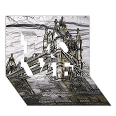 Metal Art London Tower Bridge LOVE 3D Greeting Card (7x5)