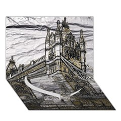 Metal Art London Tower Bridge Heart Bottom 3d Greeting Card (7x5)