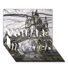 Metal Art London Tower Bridge YOU ARE INVITED 3D Greeting Card (7x5)
