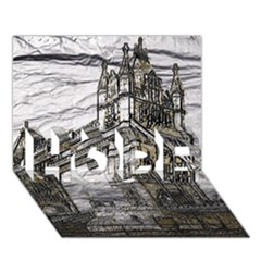 Metal Art London Tower Bridge Hope 3d Greeting Card (7x5)