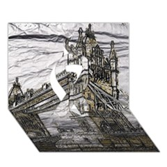 Metal Art London Tower Bridge Ribbon 3d Greeting Card (7x5)