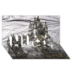 Metal Art London Tower Bridge Hugs 3d Greeting Card (8x4)