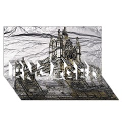 Metal Art London Tower Bridge Engaged 3d Greeting Card (8x4)
