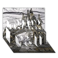 Metal Art London Tower Bridge THANK YOU 3D Greeting Card (7x5)