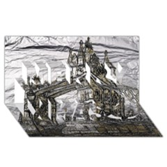 Metal Art London Tower Bridge Merry Xmas 3d Greeting Card (8x4)