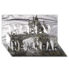 Metal Art London Tower Bridge Happy New Year 3d Greeting Card (8x4)