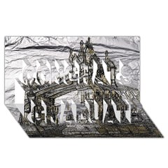 Metal Art London Tower Bridge Congrats Graduate 3d Greeting Card (8x4)