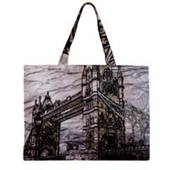 Metal Art London Tower Bridge Zipper Tiny Tote Bags