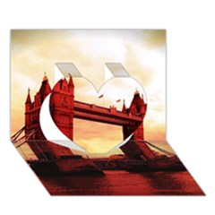 London Tower Bridge Red Heart 3D Greeting Card (7x5)