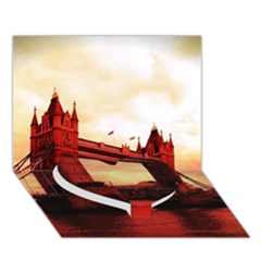 London Tower Bridge Red Heart Bottom 3D Greeting Card (7x5)