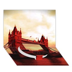 London Tower Bridge Red Circle Bottom 3D Greeting Card (7x5)