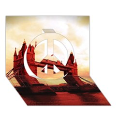London Tower Bridge Red Peace Sign 3D Greeting Card (7x5)