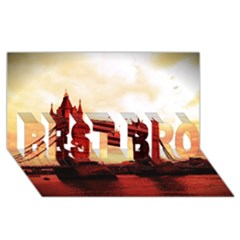 London Tower Bridge Red BEST BRO 3D Greeting Card (8x4)